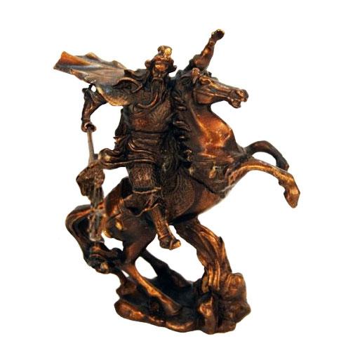 Статуэтка Гуань на коне