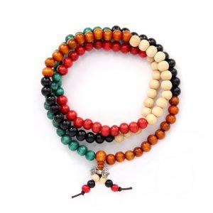 Четки буддийские Ваджра цветные