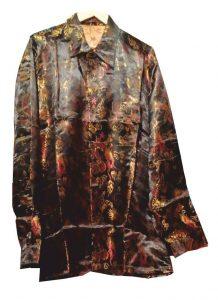Китайский пиджак коричневый с драконами