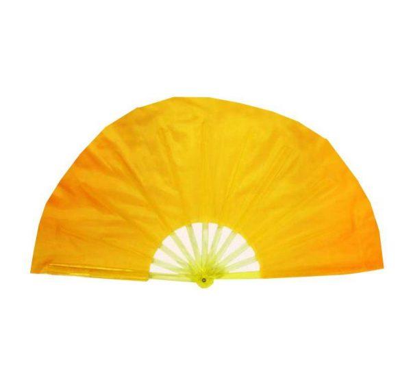 Веер однотонный желтый для танцев