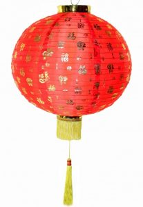 Китайский фонарик с иероглифами