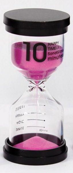 Песочные часы на 10 минут розовые