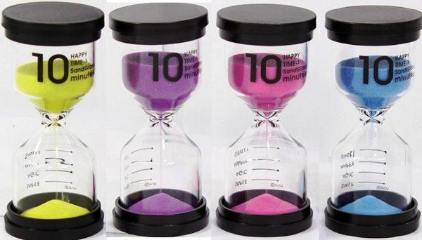 Песочные часы на 10 минут розовые 1